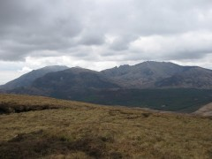 Arran Peaks from Beinn Bhreac