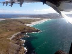 Approaching Barra Airstrip